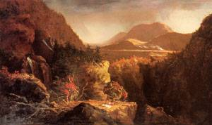 Landscape with Figures A Scene from The Last of the Mohicans 1826 | Thomas Cole | Oil Painting