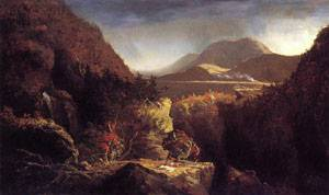 Landscape with Figures A Scene from The Last of the Mohicans 1826 01 | Thomas Cole | Oil Painting
