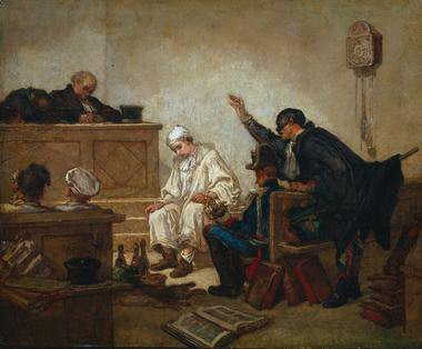 Pierrot in Criminal Court | Thomas Couture | Oil Painting