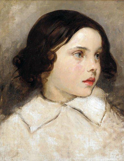 Etude de jeune fille | Thomas Couture | Oil Painting