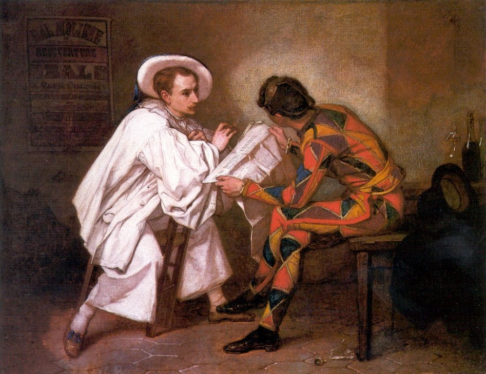 Pierrot the Politician | Thomas Couture | Oil Painting