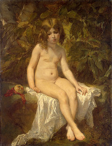 The Little Bather | Thomas Couture | Oil Painting