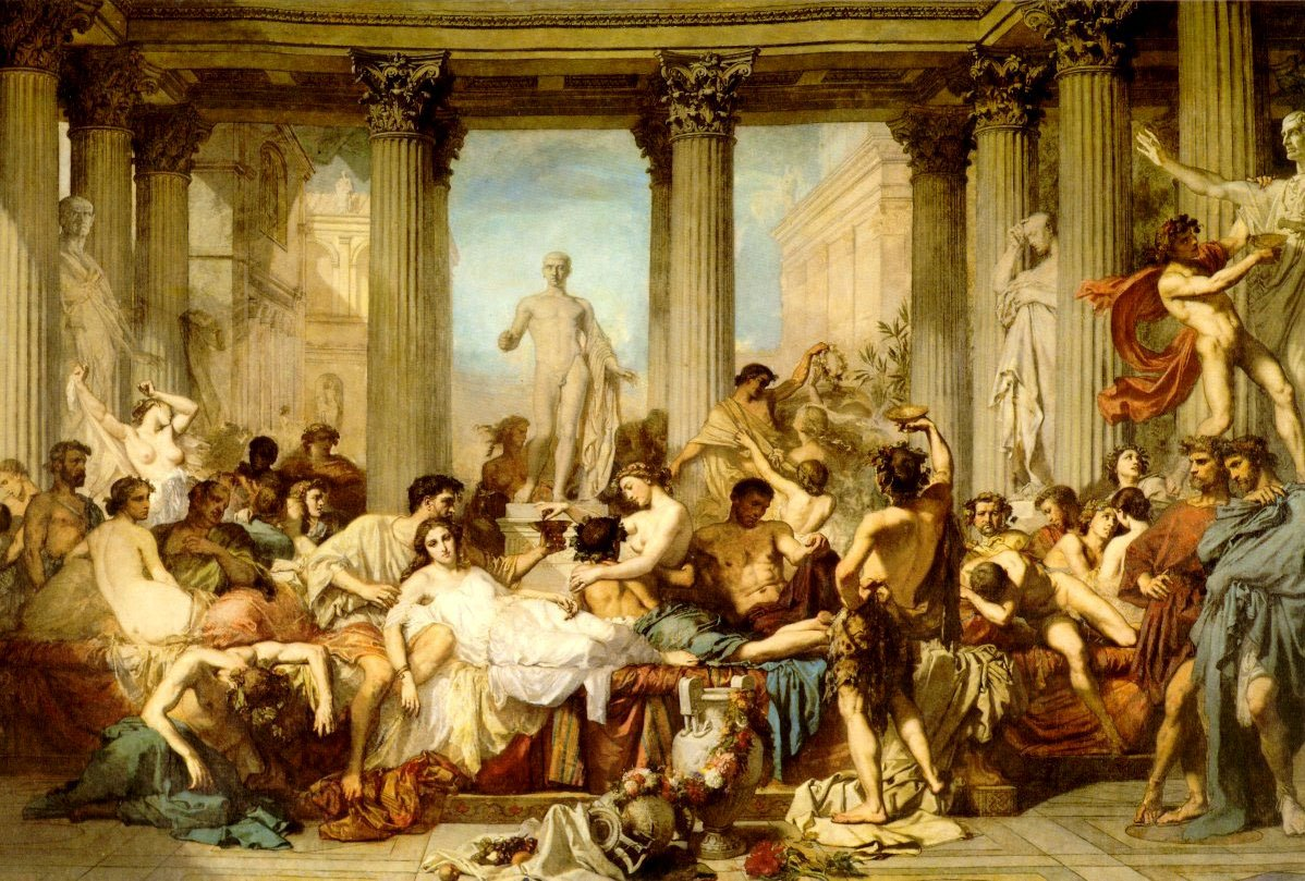 The Romans of the Decadence | Thomas Couture | Oil Painting