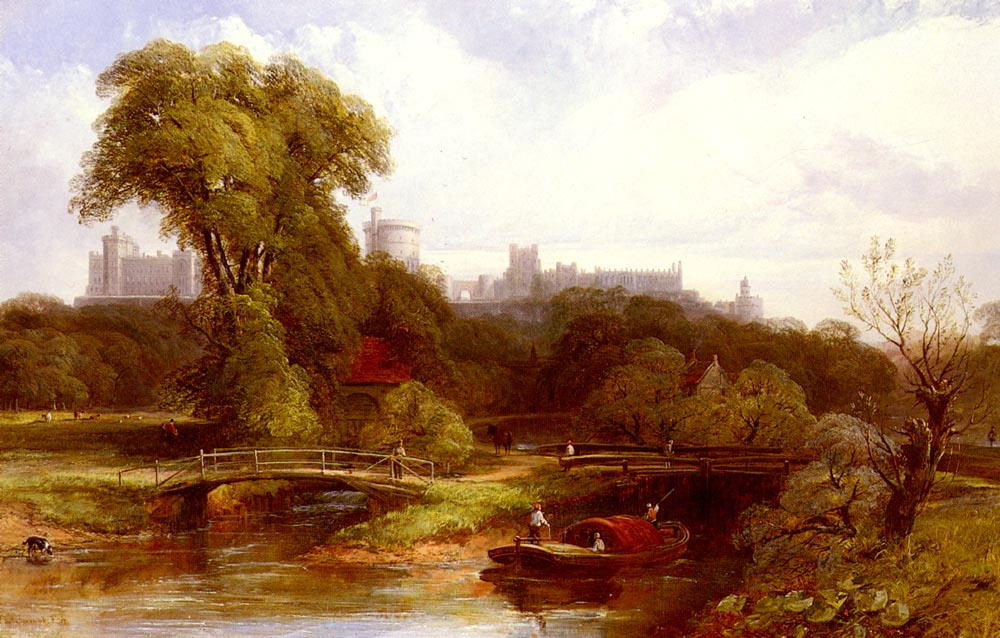 A View Of Windsor Castle | Thomas Creswick | Oil Painting