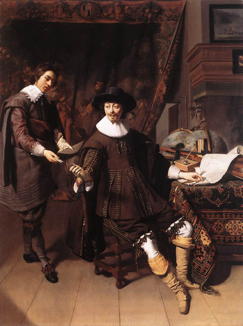 Constantijn Huygens And His Clerk 1627 | Thomas de Keyser | Oil Painting