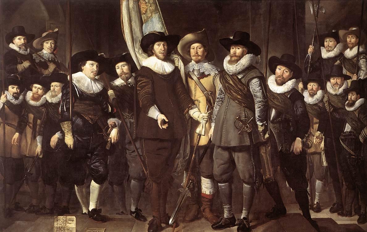 The Militia Company Of Captain Allaert Cloeck 1632   Thomas de Keyser   Oil Painting