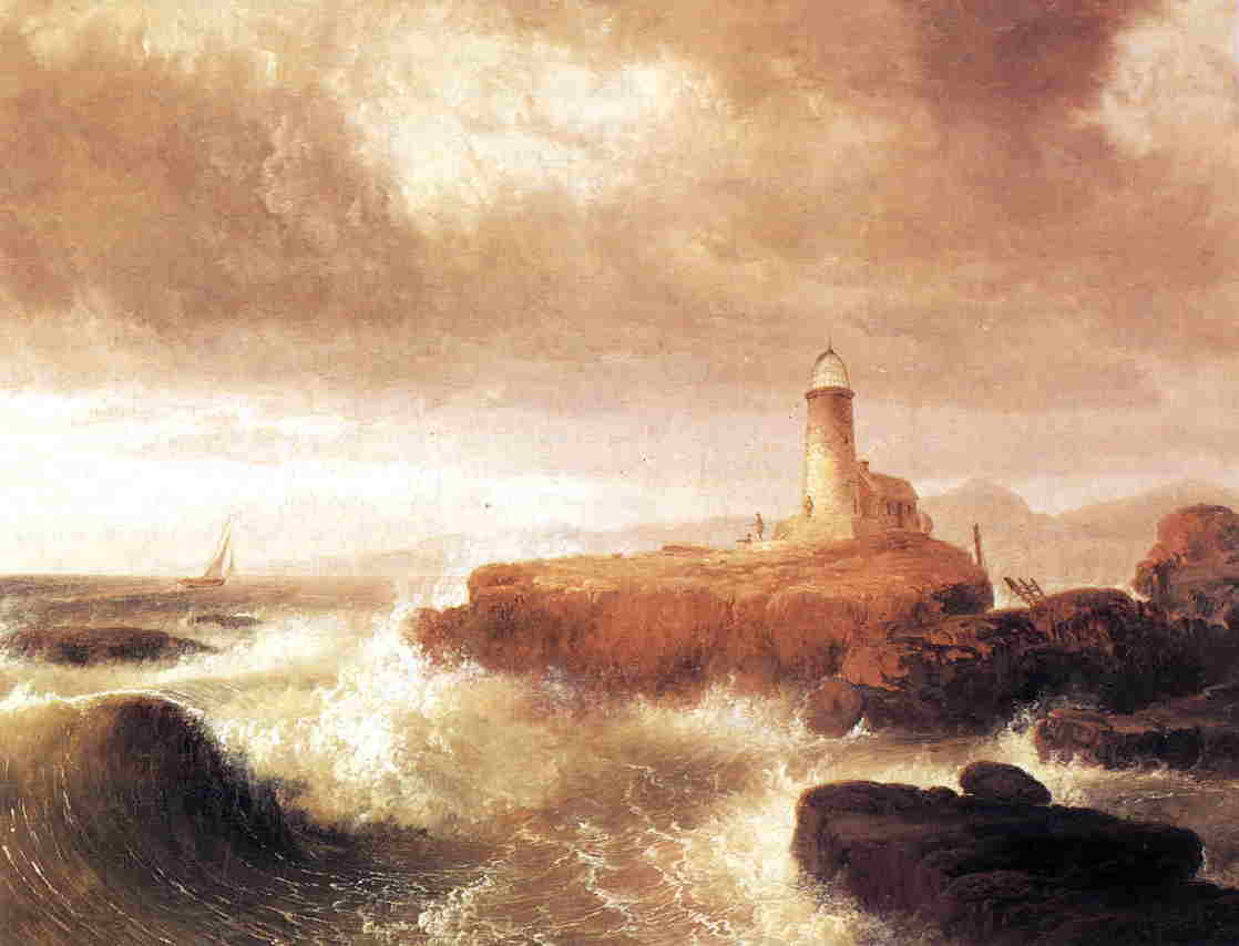 Desert Rock Lighthouse  1836 | Thomas Doughty | Oil Painting