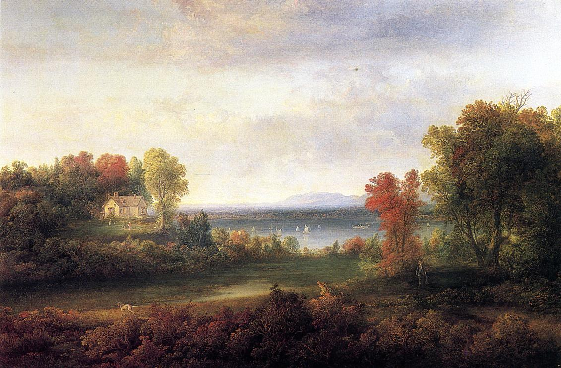 Hudson River Landscape  1852 | Thomas Doughty | Oil Painting
