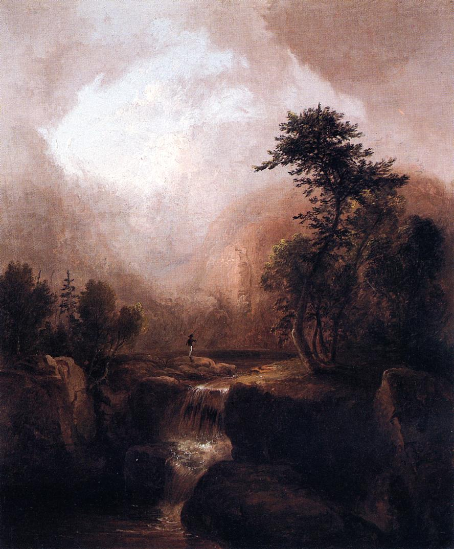 Landscape with Waterfall  1836 | Thomas Doughty | Oil Painting