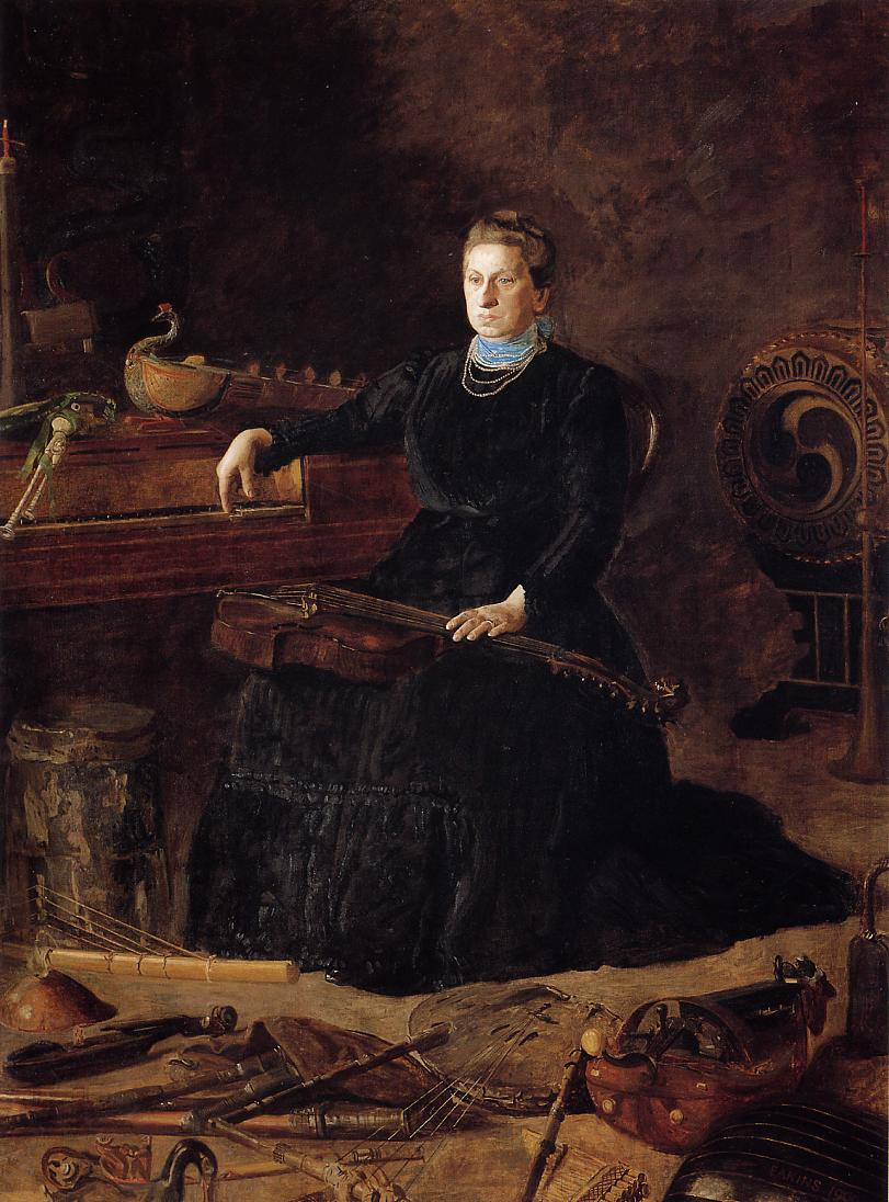 Antiquated Music (aka Portrait of Sarah Sagehorn Frishmuth) 1900 | Thomas Eakins | Oil Painting