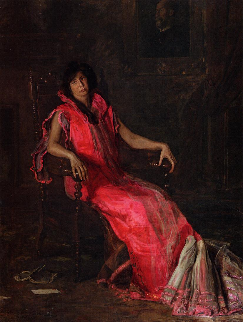 An Actress (aka Portrait of Suzanne Santje) 1903 | Thomas Eakins | Oil Painting