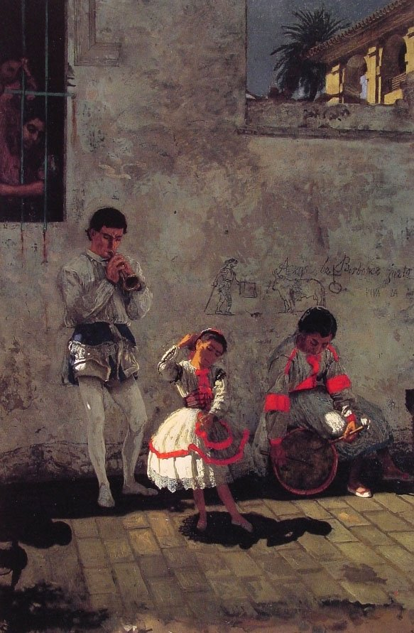 A Street Scene in Seville | Thomas Eakins | Oil Painting