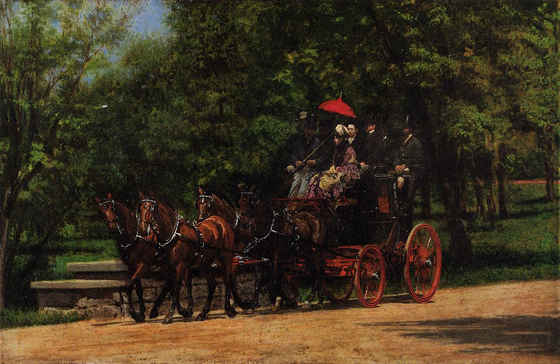 A May Morning in the Park (aka The Fairman Robers Four-in-Hand) 1879-1880 | Thomas Eakins | Oil Painting