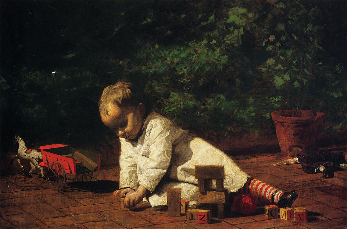 Baby at Play 1876 | Thomas Eakins | Oil Painting