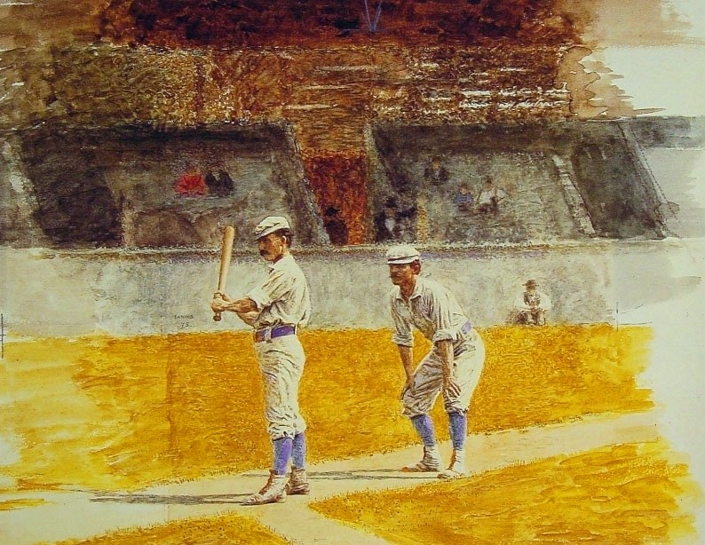 Baseball Players Practicing | Thomas Eakins | Oil Painting