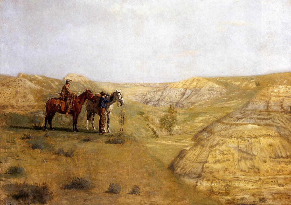 Cowboys in the Badlands 1888 | Thomas Eakins | Oil Painting