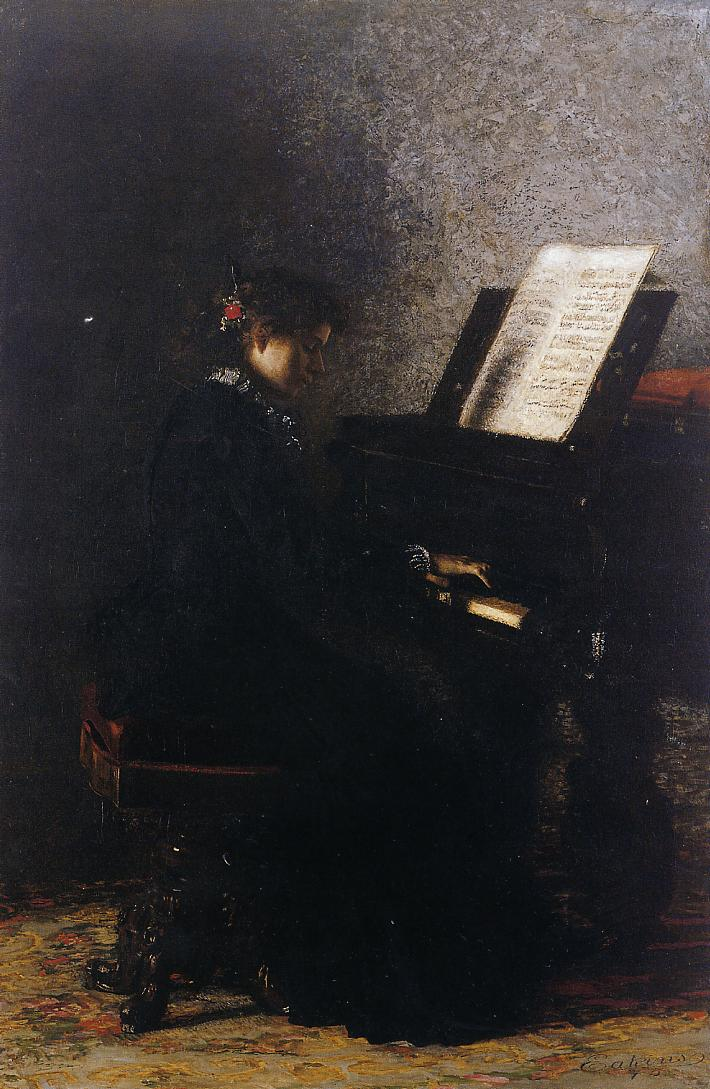Elizabeth at the Piano 1875 | Thomas Eakins | Oil Painting