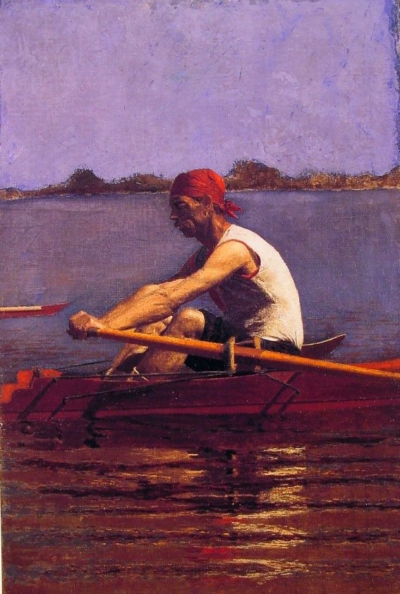 John Biglin in a Single Scull | Thomas Eakins | Oil Painting