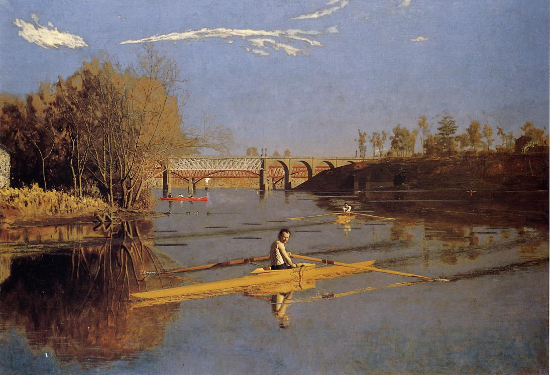 Max Schmitt in a Single Scull 1871 | Thomas Eakins | Oil Painting
