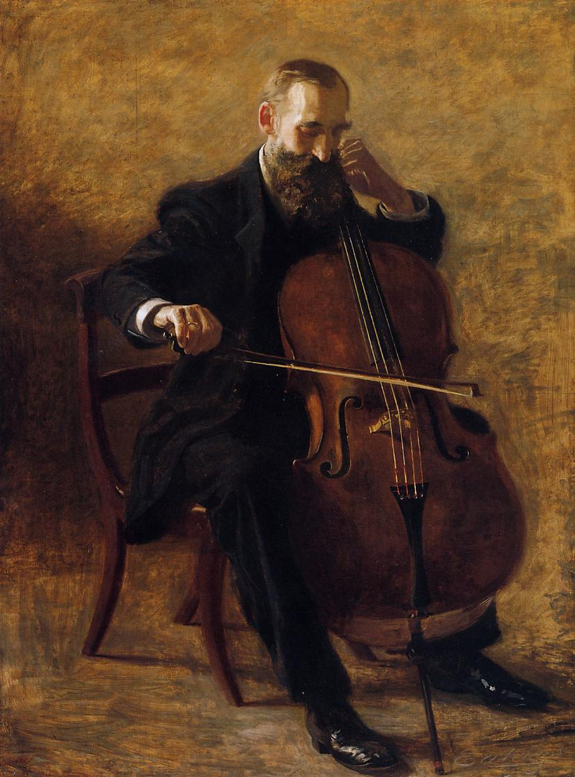 The Cello Player 1896 | Thomas Eakins | Oil Painting