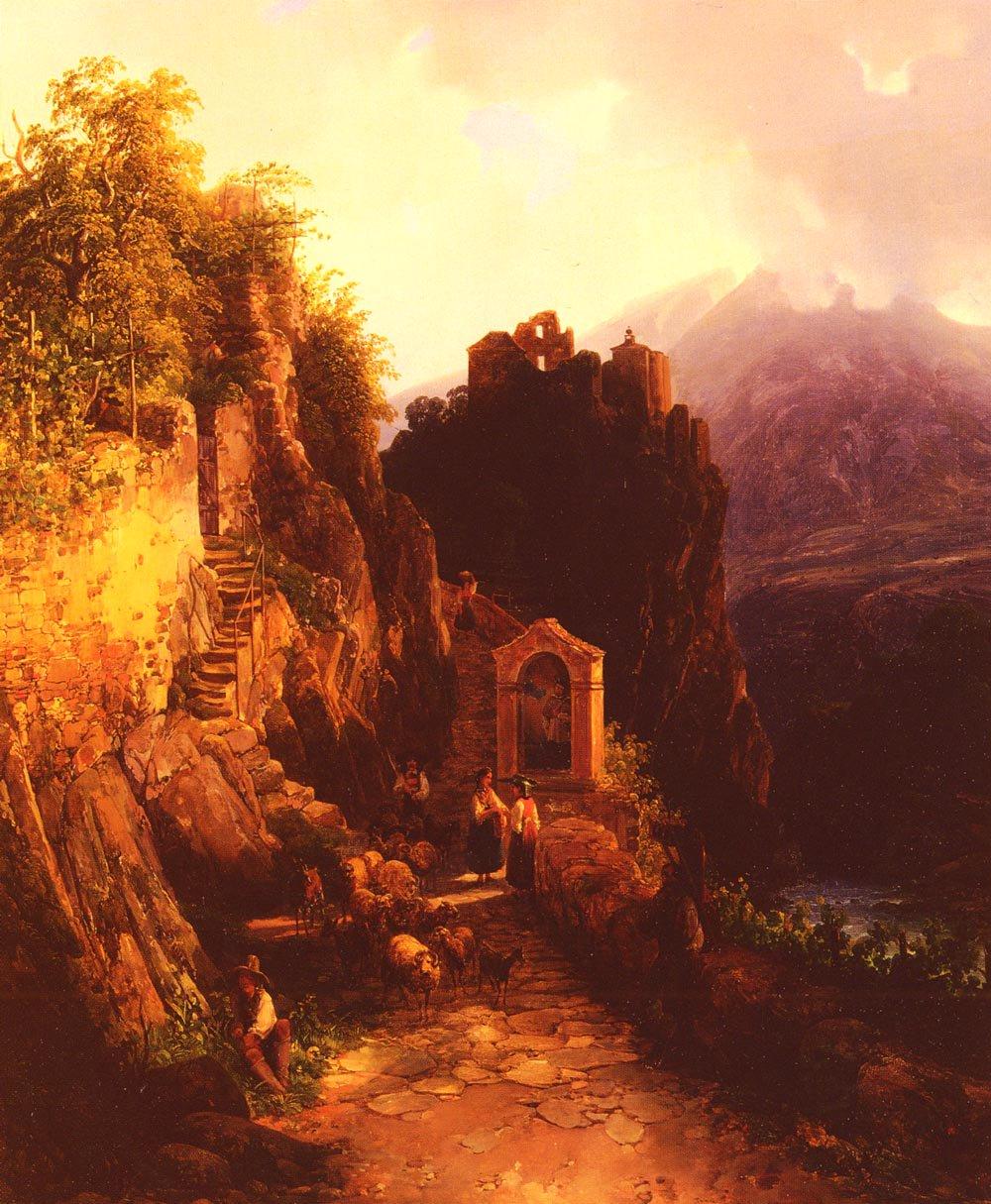 Alpin Landschaft | Thomas Ender | Oil Painting