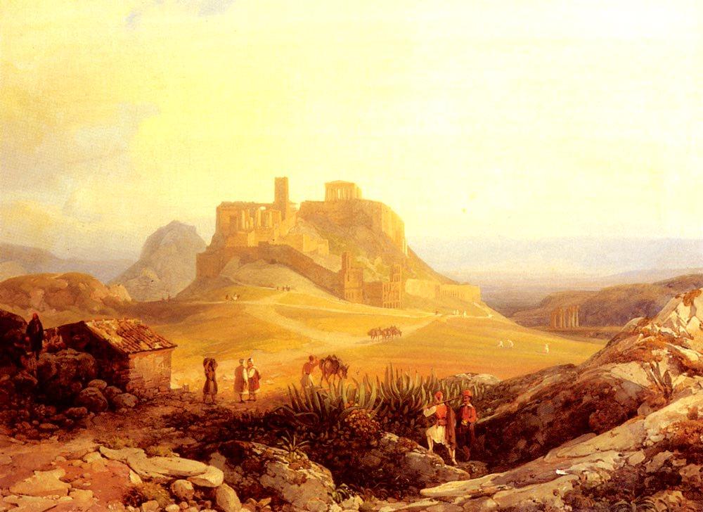 The Acropolis Athens | Thomas Ender | Oil Painting