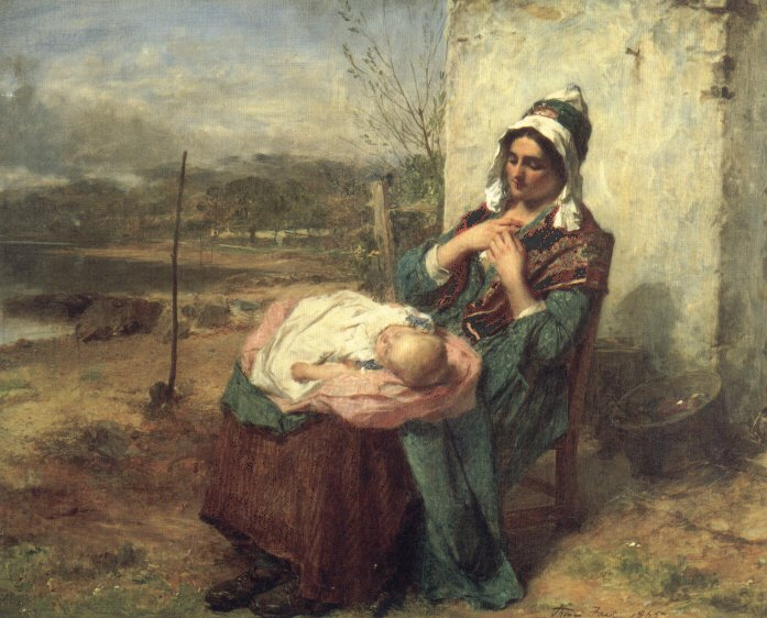 Ere Care Begins | Thomas Faed | Oil Painting