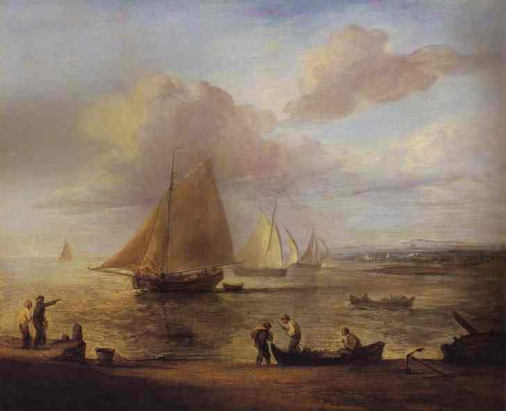 Coastal Scene A Calm 1783 | Thomas Gainsborough | Oil Painting