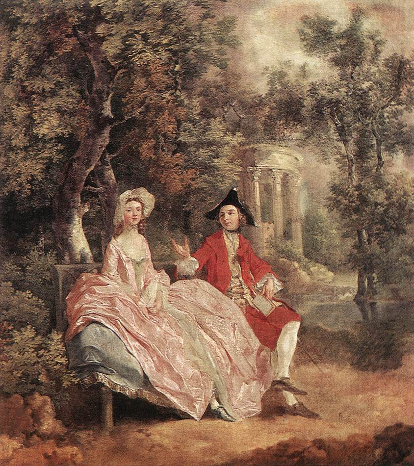 Conversation In A Park 1740 | Thomas Gainsborough | Oil Painting