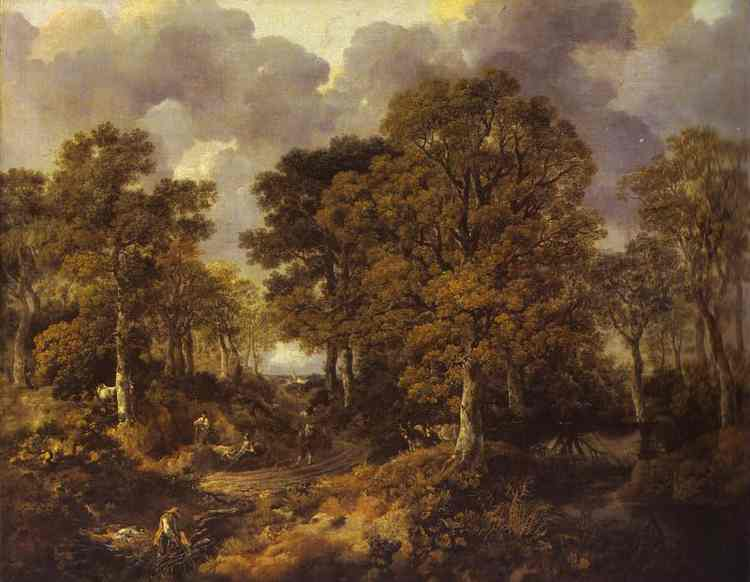 Forest (Cornard Wood) 1746-1747 | Thomas Gainsborough | Oil Painting