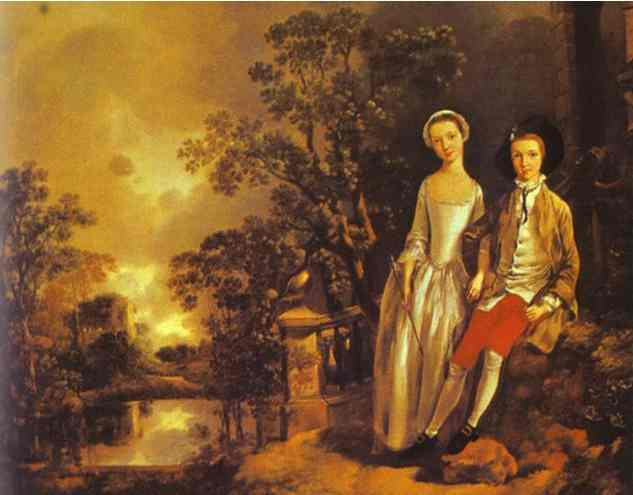 Heneage Lloyd And His Sister 1750s | Thomas Gainsborough | Oil Painting