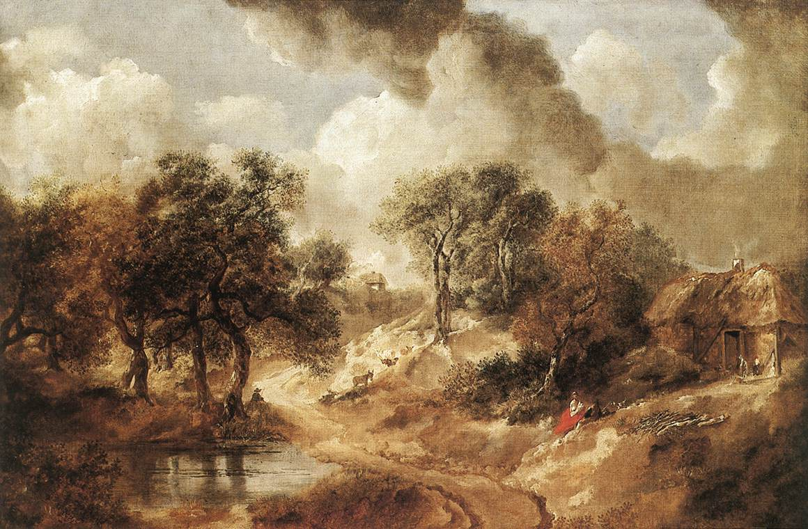 Landscape In Suffolk 1750 | Thomas Gainsborough | Oil Painting