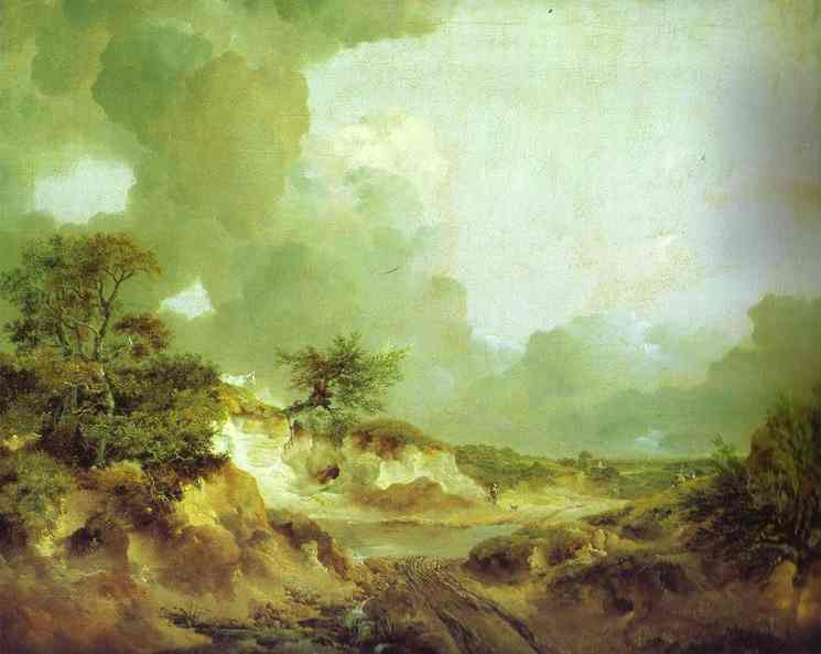 Landscape With Sandpit 1746-1747 | Thomas Gainsborough | Oil Painting