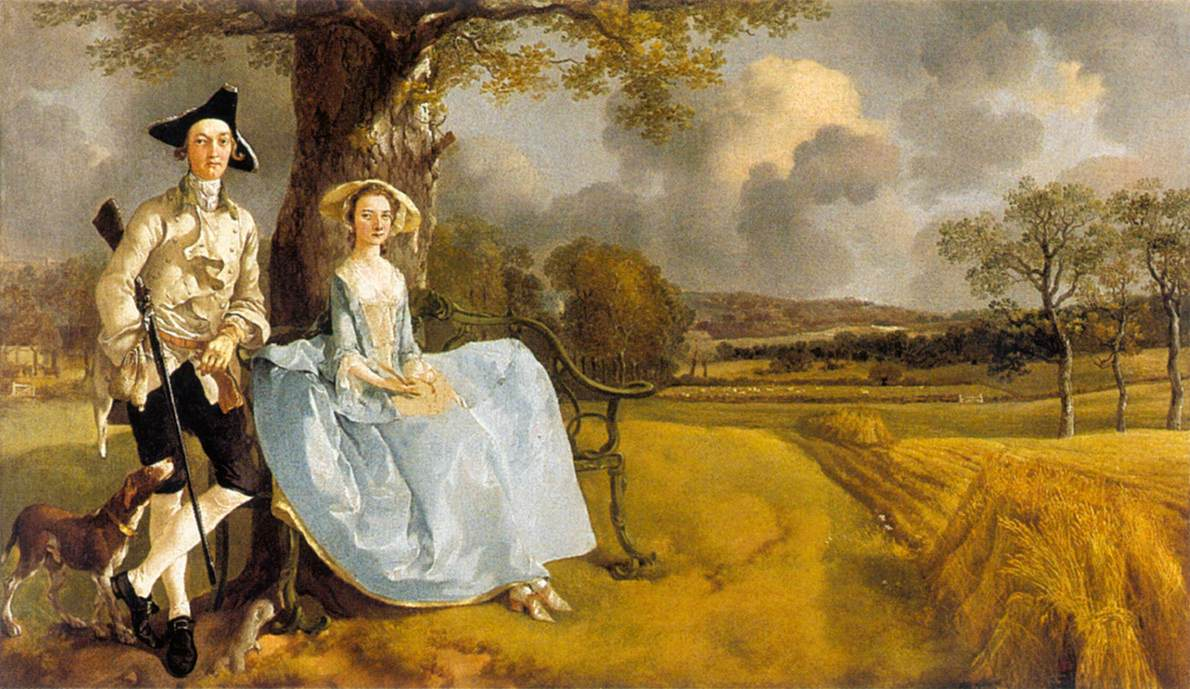 Mr And Mrs Andrews 1748-49 | Thomas Gainsborough | Oil Painting