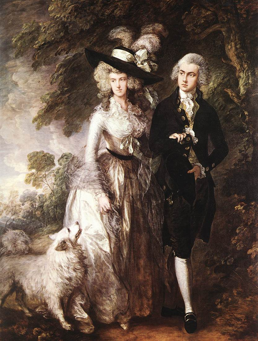 Mr And Mrs William Hallett (The Morning Walk) 1785 | Thomas Gainsborough | Oil Painting