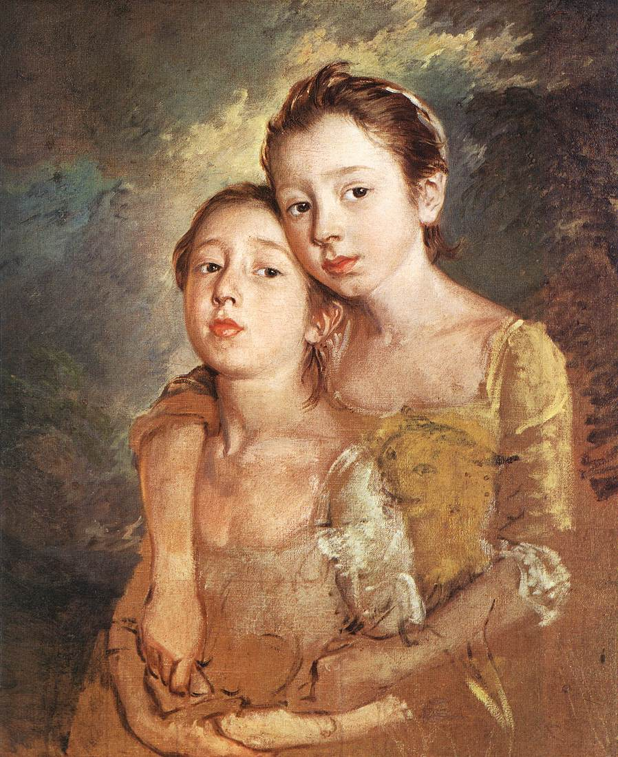 The Artists Daughters With A Cat 1759-61 | Thomas Gainsborough | Oil Painting