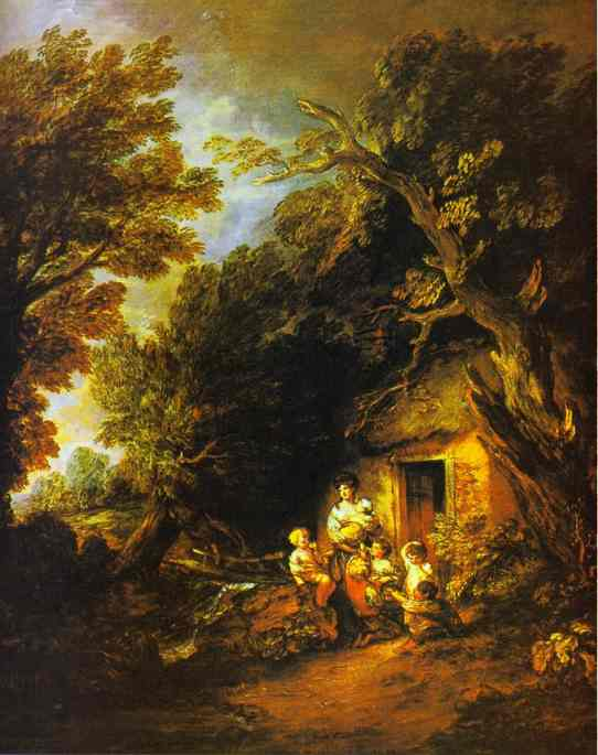 The Cottage Door Exhibited R A 1780 | Thomas Gainsborough | Oil Painting