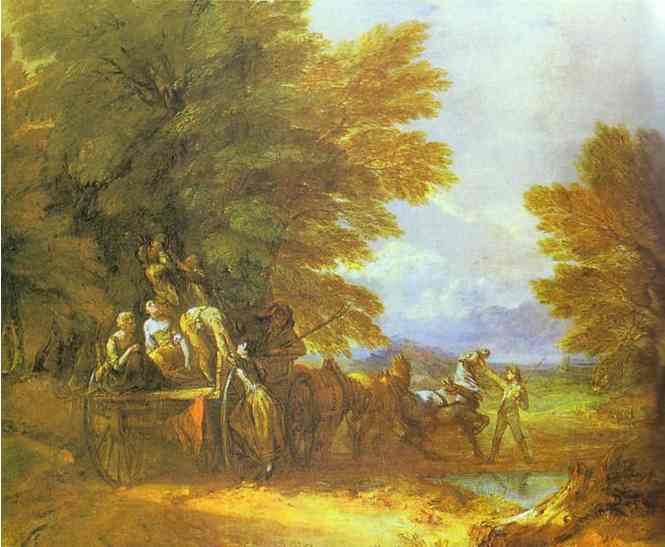 The Harvest Wagon Exhibited S A 1767 | Thomas Gainsborough | Oil Painting