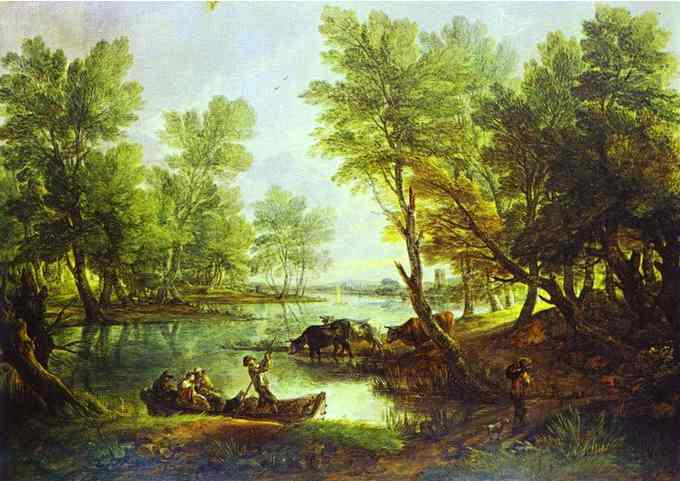 View Of Kings Bromley On Trent Staffordshire 1768-70 | Thomas Gainsborough | Oil Painting