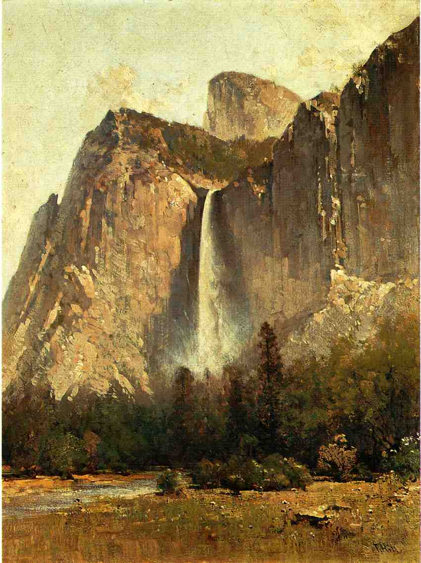 Bridal Veil Falls-Yosemite Valley | Thomas Hill | Oil Painting