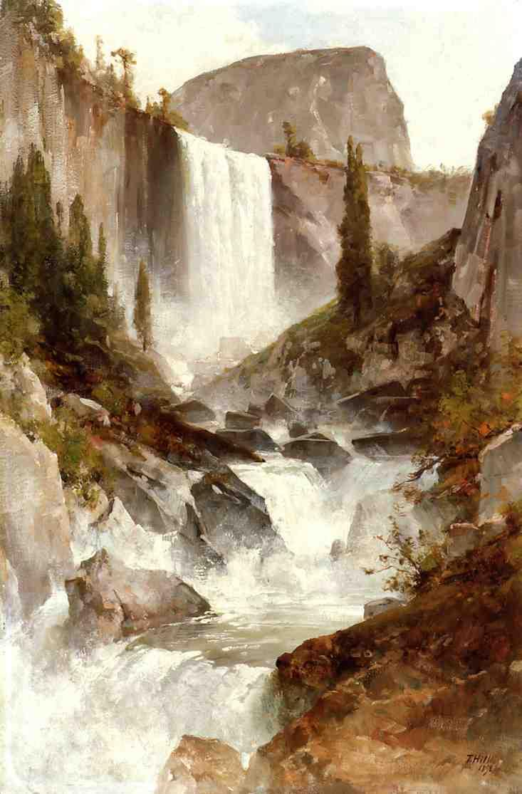 Falls in Yosemite 1892 | Thomas Hill | Oil Painting