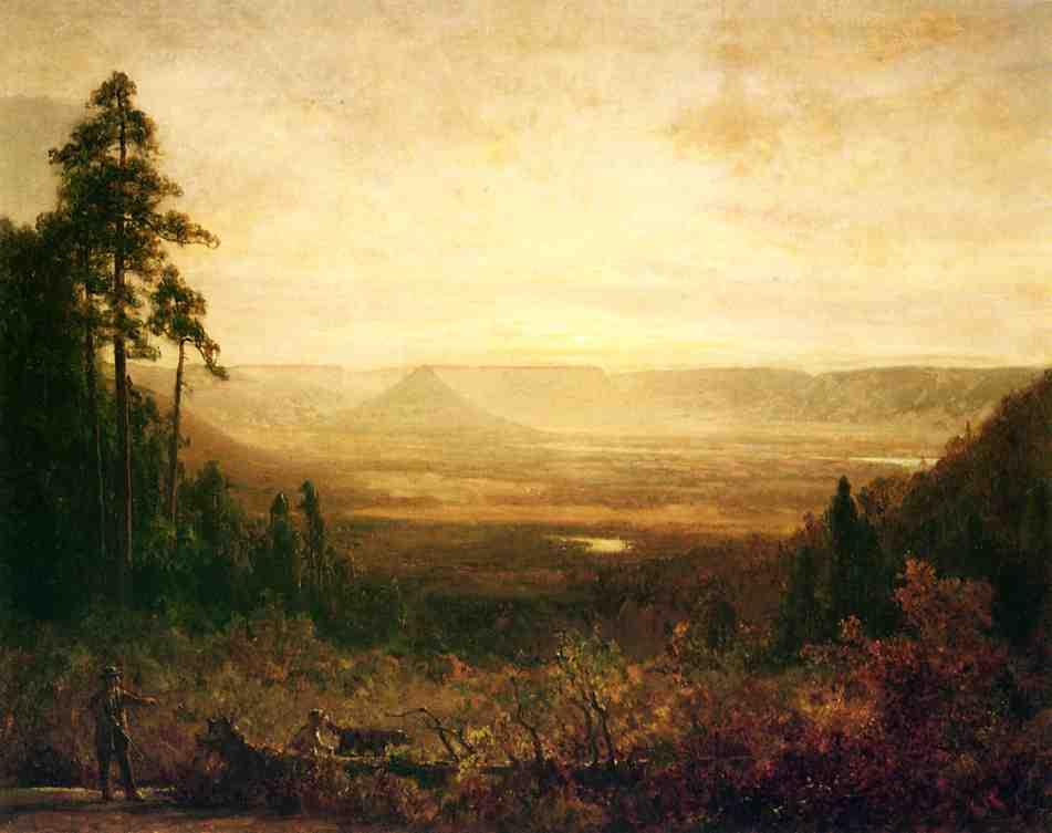 Hunter at Sunrise | Thomas Hill | Oil Painting