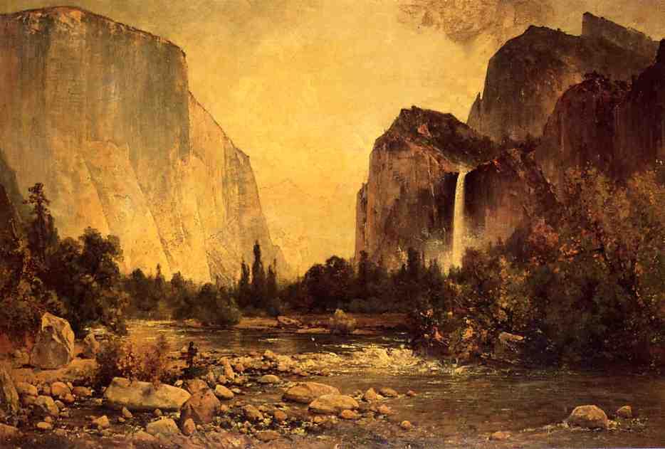 Lone Fisherman in Yosemite 1891 | Thomas Hill | Oil Painting