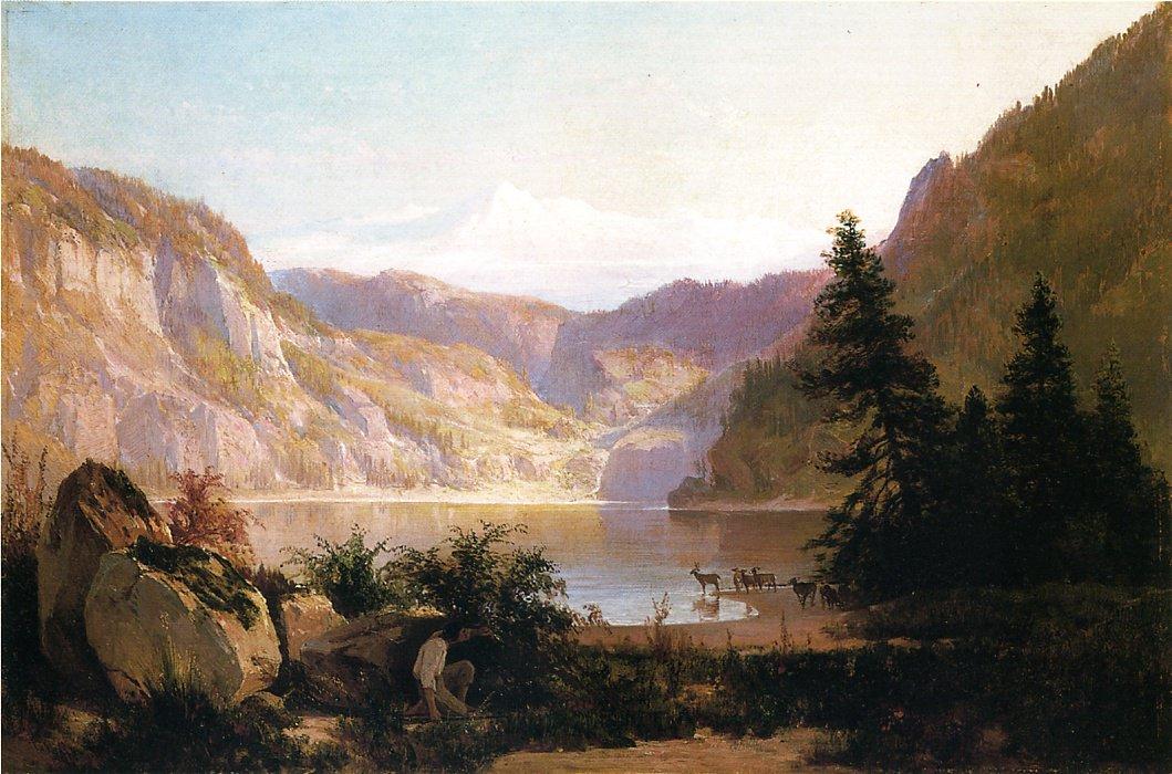 Mountain Lake 1887 | Thomas Hill | Oil Painting