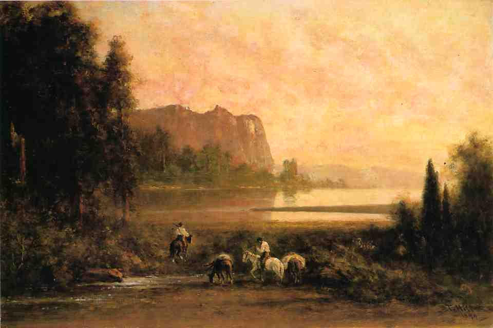 Trappers in Yosemite Mountains 1899 | Thomas Hill | Oil Painting