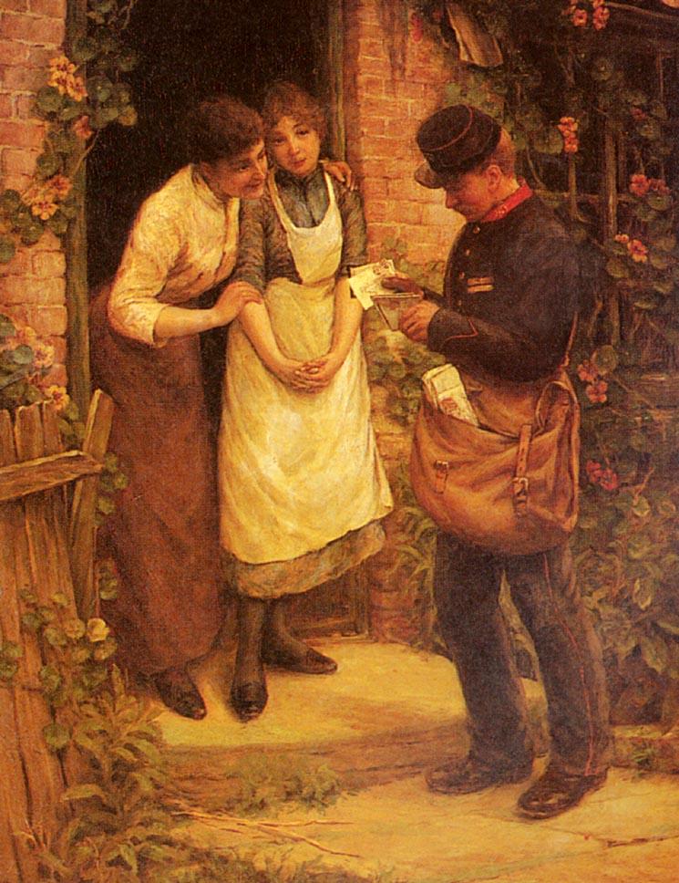The Postman | Thomas Liddall Armitage | Oil Painting