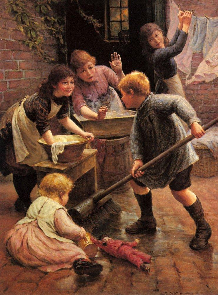 Washing Day | Thomas Liddall Armitage | Oil Painting