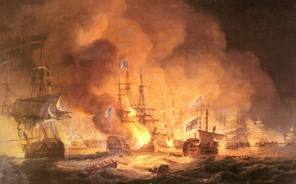 Battle Of The Nile August 1st 1798 At 10pm | Thomas Luny | Oil Painting