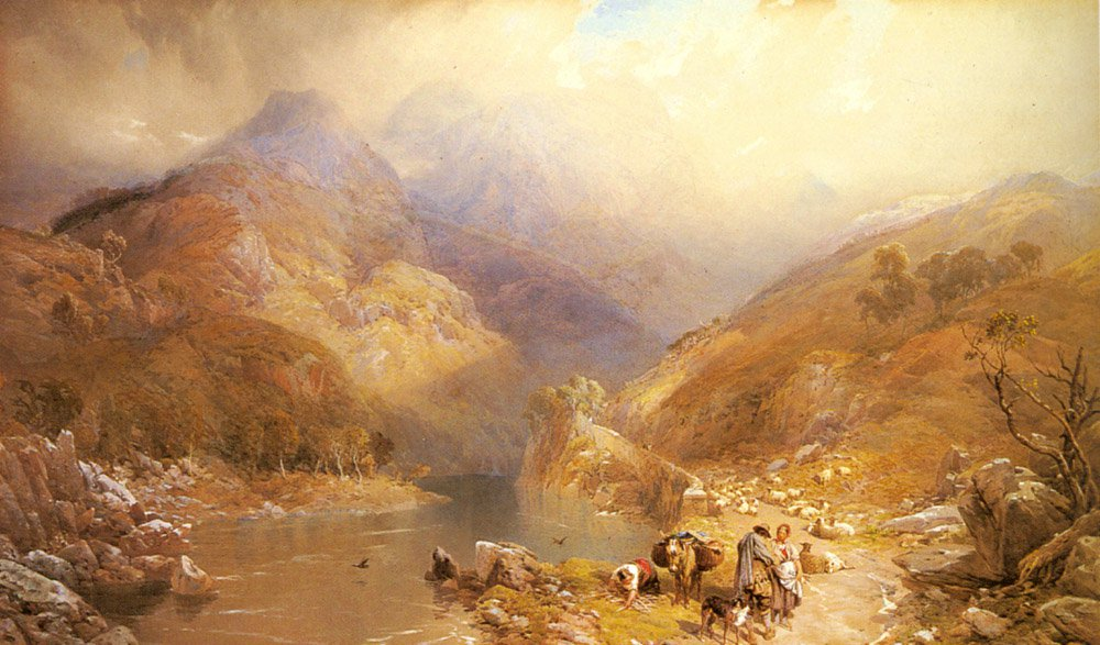 Gate Crag Borrowdale Cumberland | Thomas Miles Richardson | Oil Painting