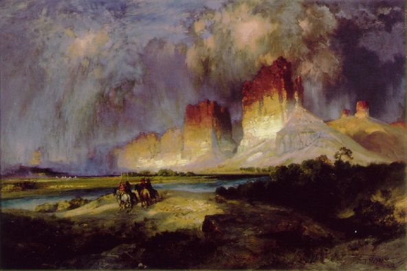 Cliffs Of The Upper Colorado River 1893-1901 | Thomas Moran | Oil Painting